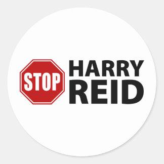 Stop Harry Reid Classic Round Sticker