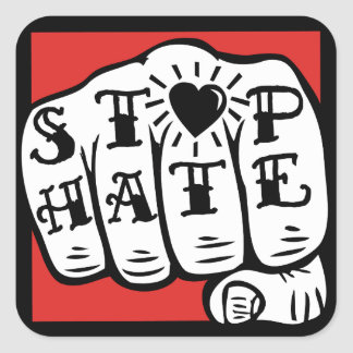STOP HATE stickers