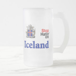 Stop Hatin' on Iceland Frosted Beer Stein