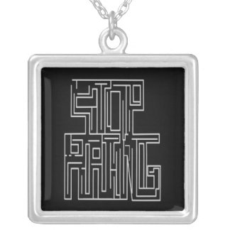 Stop Hating Maze Necklace