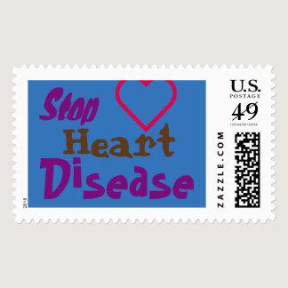 ❤  STOP HEART DISEASE POSTAGE