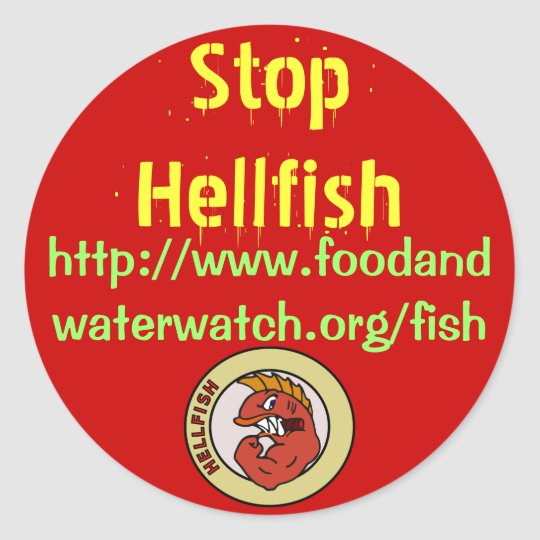 stop hell fish stickers