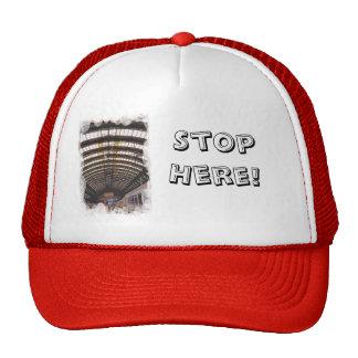 Stop here trucker hat