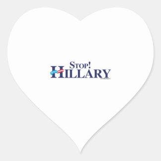 Stop Hillary Heart Sticker