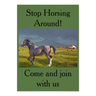 STOP HORSING AROUND INVITATION