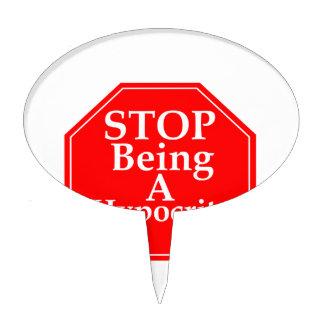 Stop Hypocrisy Cake Topper
