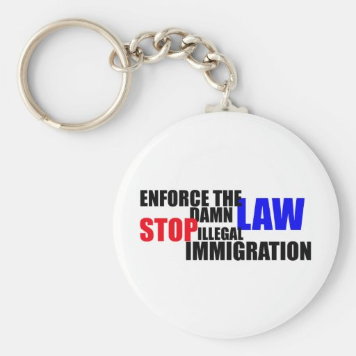 stop illegal immigration key chain