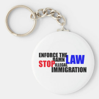 stop illegal immigration keychain