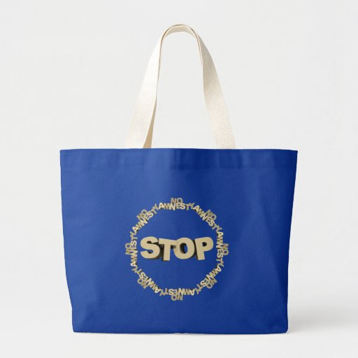 Stop Illegal Immigration Large Tote Bag