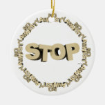 Stop Illegal Immigration Ornaments