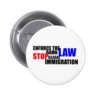 stop illegal immigration pin