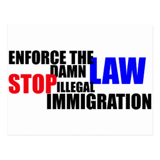 stop illegal immigration post cards