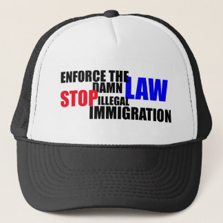 stop illegal immigration trucker hat