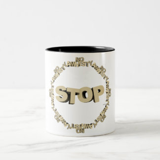 Stop Illegal Immigration Two-Tone Coffee Mug