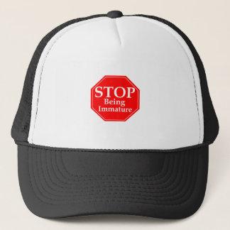 Stop Immaturity Trucker Hat