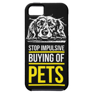 Stop Impulsive Buying of Pets iPhone SE/5/5s Case