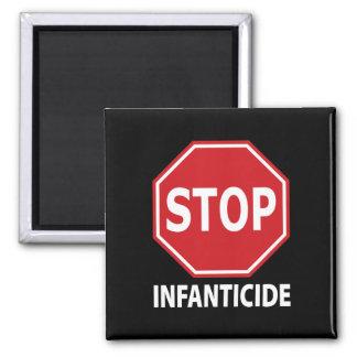 Stop Infanticide 2 Inch Square Magnet