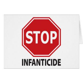 Stop Infanticide Card