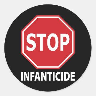 Stop Infanticide Classic Round Sticker
