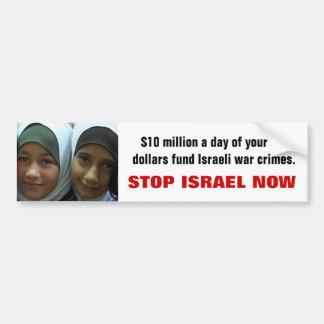 STOP ISRAEL NOW BUMPER STICKER