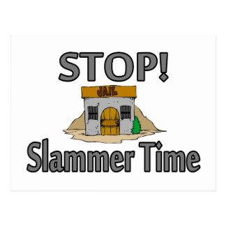 Stop It's Slammer Time Postcard