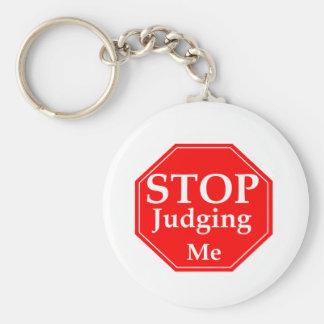 Stop Judging Keychain