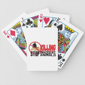 Stop Killing Animals Bicycle Playing Cards