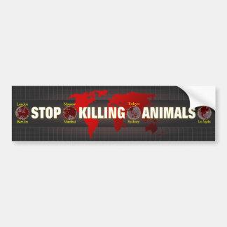 Stop killing Animals Bumper Sticker