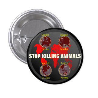 Stop killing Animals Pin