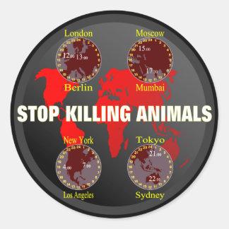 Stop killing Animals Classic Round Sticker