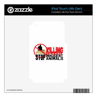 Stop Killing Animals iPod Touch 4G Decal