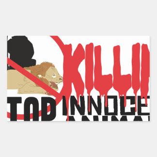 Stop Killing Animals Rectangular Sticker
