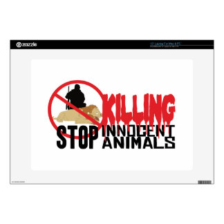 "Stop Killing Animals Skins For 15"" Laptops"