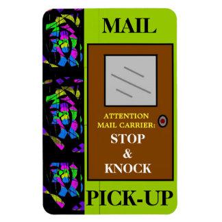Stop & Knock Rectangular Photo Magnet