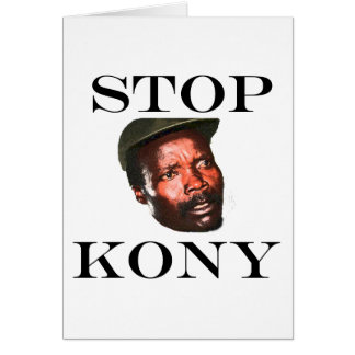 STOP KONY 2012 CARD
