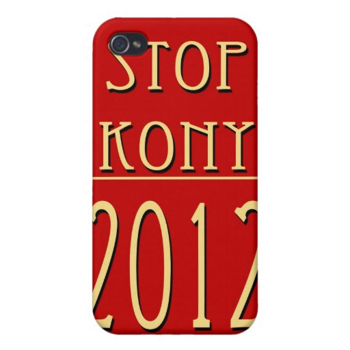 Stop Kony 2012 iPhone 4 Cover