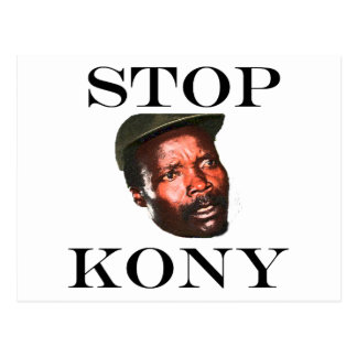 STOP KONY 2012 POSTCARD