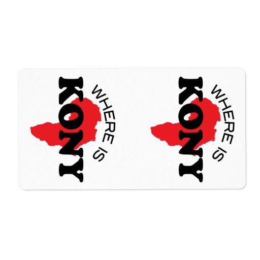 Stop Kony 2012 Stickers Personalized Shipping Labels