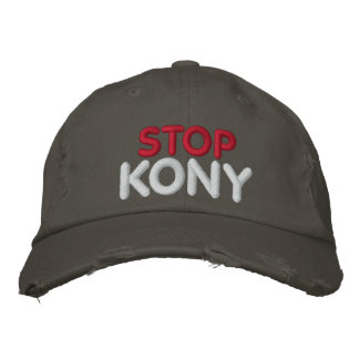 STOP KONY EMBROIDERED BASEBALL HAT