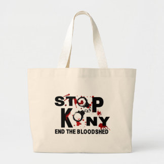 Stop Kony. End the Bloodshed. Tote Bags