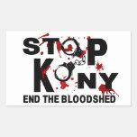 Stop Kony. End the Bloodshed. Rectangle Sticker