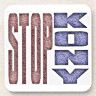 STOP KONY - Kids Crayon Colored Design Beverage Coasters