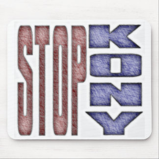 STOP KONY - Kids Crayon Colored Design Mouse Pad