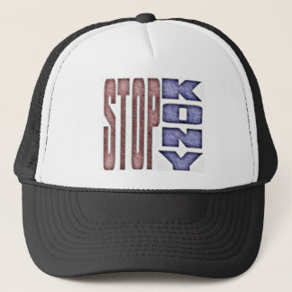 STOP KONY - Kids Crayon Colored Design Trucker Hat