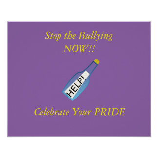 Stop LGBT Bullying Now Poster
