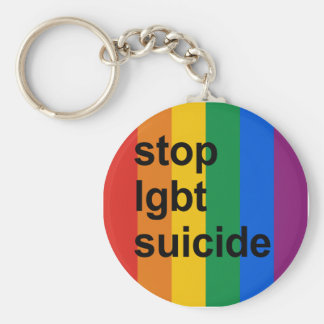 stop lgbt suicide keychains