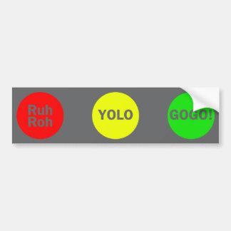 Stop Light Bumper Sticker