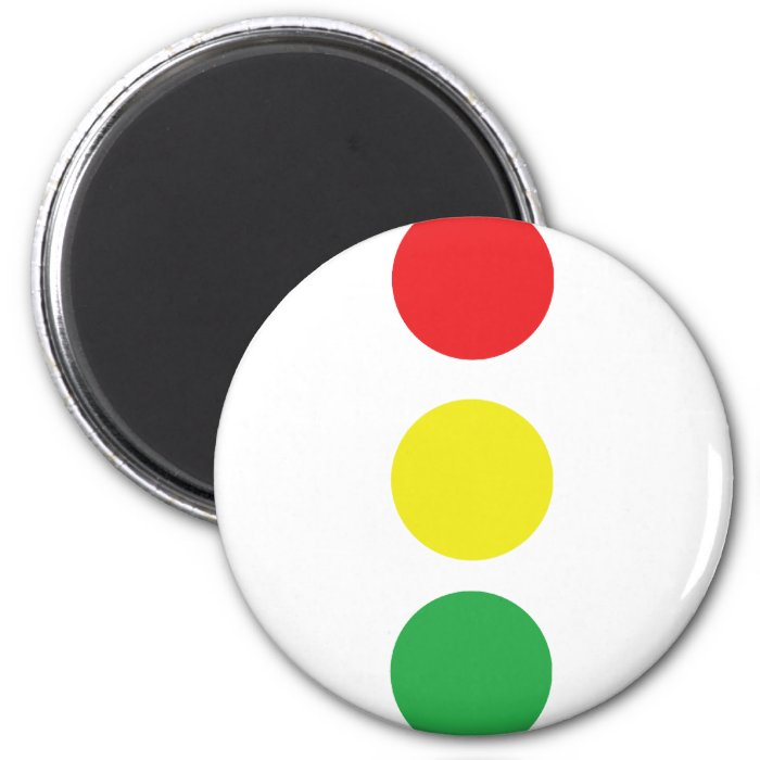 stop light icon 2 inch round magnet