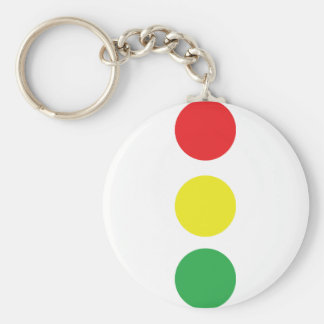 stop light icon basic round button keychain