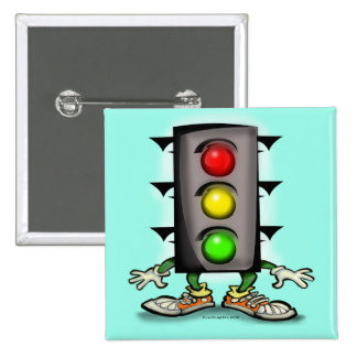 Stop Light Magnet 2 Inch Square Button